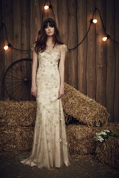 The Lucky Gown in Barley |The Jenny Packham 2017 Bridal Collection | see them all on www.onefabday.com