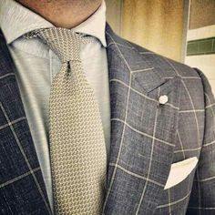 Knit tie accents