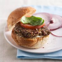 Red Beans and Rice Burgers --- Make 4 heart-healthy vegetarian burgers in 30 minutes with this recipe that's got it all: no cholesterol, little fat, and loads of fiber and flavor.