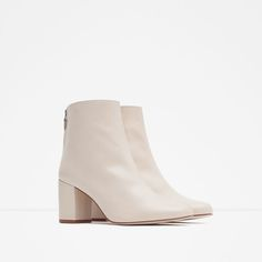 Image 2 of HIGH HEEL LEATHER ANKLE BOOTS WITH ZIP from Zara