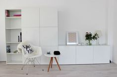 A lot of storage with Ikea 'Besta'