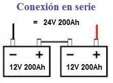 Conexion serie de baterías