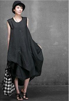 Corée du Style Casual linge gilet robe jour été recadrée Plus Size lin femmes robe femmes vêtements dans Robes de Accessoires et vêtements pour femmes sur AliExpress.com | Alibaba Group