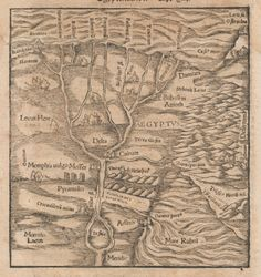 Sebastian Münster, Egypt, Cosmographia Universalis, 1550