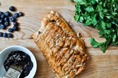 Grilled Blueberry BBQ Salmon. I could do that.