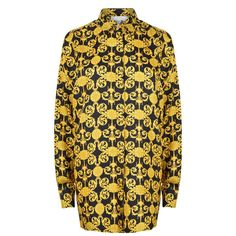 VERSACE COLLECTION Baroque Print Oversized Shirt
