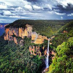 Blue Mountains, New South Wales, Aus Australia Capital, Australia Travel, Travel Around The World, Around The Worlds, Blue Mountains Australia, Gardens Of Stone, Mountain Waterfall, Travel Memories, Luxor