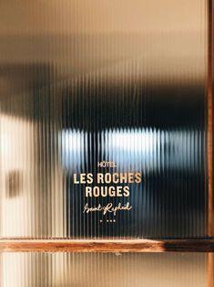 Home Remodel Planner Les Roches Rouges Retail Signage, Wayfinding Signage, Signage Design, Cafe Design, Store Design, Hotel Signage, Design Design, Graphic Design, Design Commercial