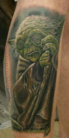 One of the best Yoda tattoos ever!