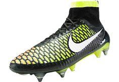 Nike Magista Obra SG Pro Soccer Cleats - Black with Volt