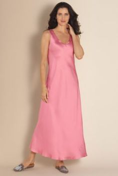 Silk Gown - Misses Size Night Gowns, Misses Sleepwear | Soft Surroundings