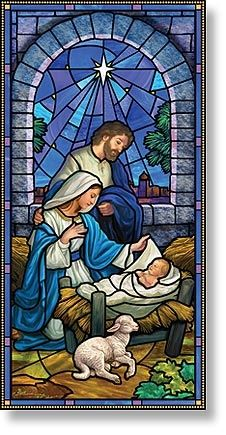 "The Nativity"" Stained Glass Window Catholic Art, Religious Art, Christmas Scenes, Christmas Pictures, Christmas Nativity Scene, Stained Glass Art, Stained Glass Windows, Illustration Noel, Church Banners"