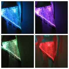 Light up Fiber optic Hip Scarf Burning Man Style Halloween Outfit Idea Christmas Gift Idea New Years Dance Party Festival Wear Hip Scarves