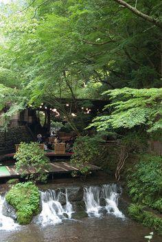 Kawadoko riverside dinning, Kyoto, Japan