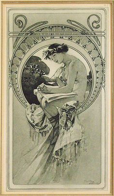 Mucha Alfonse - Plate Art Nouveau | Flickr - Photo Sharing!
