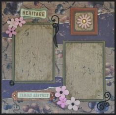Heritage. 12 X 12, 1 Page Layout