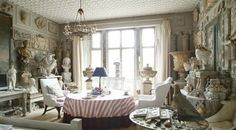 Peter Hone's London drawing room..one of England's leading dealers of garden furniture and antiques