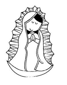 Dibujos de la virgencita Plis para colorear - Imagui