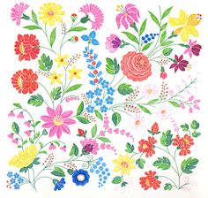 kalocsa embroidery | if you look closely at kalocsa embroidery you will see roses lilies ...