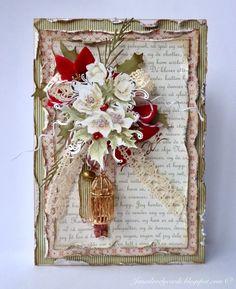 Stempelglede :: Design Team Blog: Christmas Rose Card