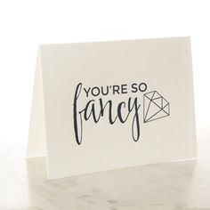 YOURE SO FANCY Notecards w/ Envelopes by PicturePerfectPapier