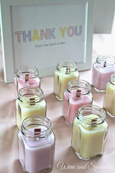 DIY Candles are so easy and fun to make! I used the ends of my wedding candles and favor jars for these lovely wooden wick favor candles for upcoming showers and gifts for my friends! These also work wonderfully for Bridal Shower favors, Wedding Favors, or Baby Shower Favors!
