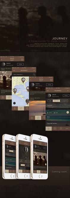 Journey - A travel journal for Digital Nomads by Tommaso Nervegna, via Behance