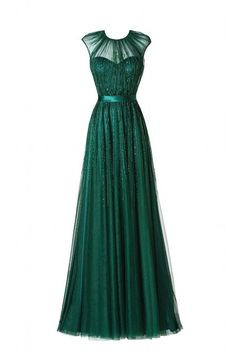 The Green prom dresses are fully lined, 8 bones in the bodice, chest pad in the bust, lace up back or zipper back are all available, total 126 colors are available.  Description  1, Material: tulle, sequin, beads, elastic silk like satin, pongee.       2, Color: picture color or other colors...