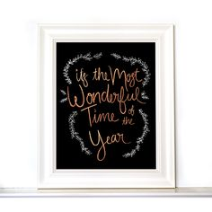 8x10 The Most Wonderful Time of the Year Christmas Print — Floating Specks Co