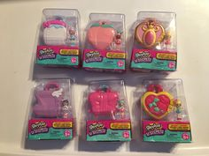 Shopkins Lil Secrets lockets - complete set of 6 Unlock your Secret Lock by cracking the code, using the map of Shopville (included). Once unlocked, you may find an ultra rare, special playset! Fun Crafts For Kids, Diy And Crafts, Num Noms Toys, Barbie Kitchen Set, Toy Shack, Mermaid Tails For Kids, Toys Land, American Girl Crafts, Disney Plush