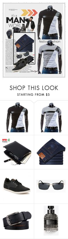 """""""Best Rosegal"""" by manuela-cdl ❤ liked on Polyvore featuring Jack & Jones, Valentino, men's fashion, menswear, men, polyvoreeditorial and rosegal"""