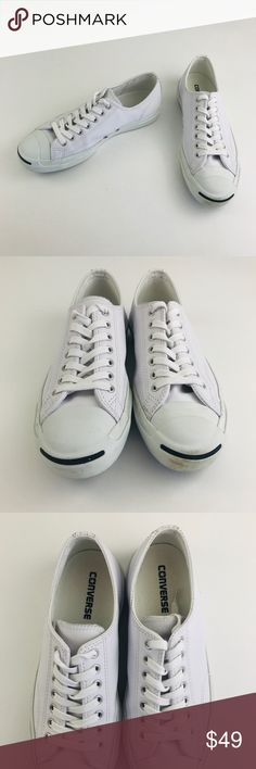 76bc460cc785 Converse white leather sneaker Jack Purcell You will love these Converse  Jack Purcell genuine white leather