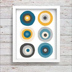 Modern Mid Century Decor Scandinavian Design Minimalist Art Poster Printable Retro