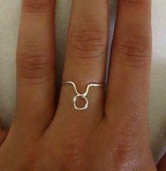 Zodiac Sign Ring- Taurus by CaseysWireOwlet on Etsy https://www.etsy.com/listing/158674529/zodiac-sign-ring-taurus