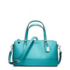 Teal Coach Cross body bag - Saffiano leather mini satchel