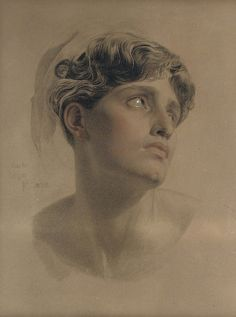 Study for Antigone, Anthony Frederick Augustus Sandys. English Pre-Raphaelite Painter - - Pencil, Black, Red and White Chalk - must check year if creation Life Drawing, Drawing Sketches, Painting & Drawing, Pencil Drawings, Art Drawings, Pencil Portrait, Portrait Art, Academic Art, Pre Raphaelite