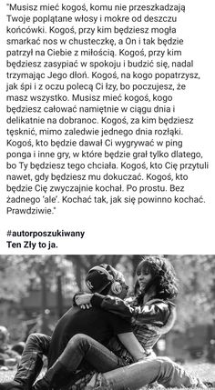 Polish Memes, Good Sentences, Im Not Okay, Life Goals, Motto, Motivational Quotes, Nostalgia, Relationship, Memories