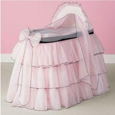 Sherbert Bassinet Liner/Skirt and Hood .   Set Includes: Bassinet, Hood, Mattress, Skirt, Hood Cover, and sheet  $274.00