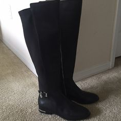 So cute!!! New Michael Kors riding boots Black Michael Kors Shoes Over the Knee Boots