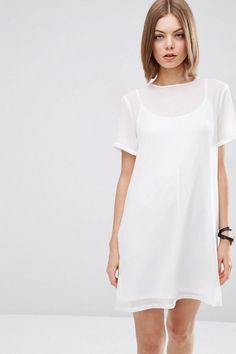 Game Day Dresses: Sheer Shift Dress from ASOS