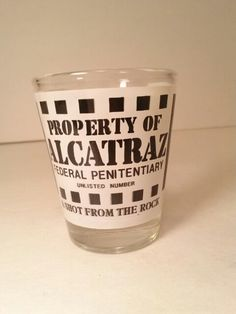 FOR SALE SHOT GLASS ALCATRAZ http://stores.ebay.com/tovascollectibles