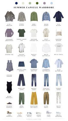 Summer 2018 Capsule Wardrobe - Part II - Capsule Closet wardrobe Men's Paris packing list Capsule Wardrobe Mom, Capsule Outfits, Neue Outfits, Fashion Capsule, Travel Outfits, Work Wardrobe, Mens Summer Wardrobe, Capsule Wardrobe How To Build A, Wardrobe Ideas