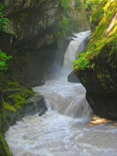 Blueberry Falls on Mount Baker in Washington State