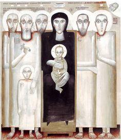 Sorin Dumitrescu, The Iconic Model of the Brancovan Martyrdom contemporary icon  Sorin-Dumitrescu_Modelul-iconic-al-muceniciei--Brancovenilor