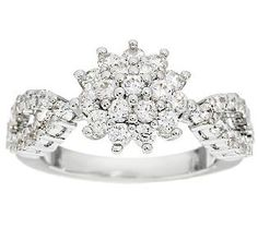 Jacqueline Kennedy Simulated Diamond Cluster Ring