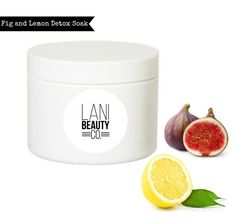 Fig & Lemon Detox Bath Soak  4 ounces by LaniBeautyCo on Etsy