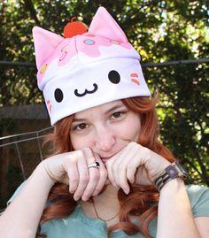 Vanilla Cupcake Kitty Hat