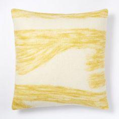 "Felt Ikat Pillow Cover - Citrus Yellow   west elm 20"" - $19.99 special (less 20% is $15.99)"