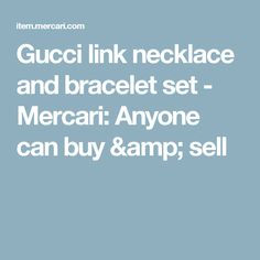 Gucci link necklace and bracelet set - Mercari: Anyone can buy & sell