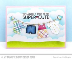 Welcome, Baby Stamp Set, Bundle of Baby Clothes Die-namics, Harvest Buddies Stamp Set and Die-namics, Stitched Cloud Edges Die-namics, Tag Builder Blueprints 5 Die-namics, Tag Builder Blueprints 6 Die-namics - Francine Vuillème  #mftstamps
